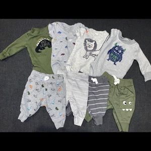 Olive and Grey New Baby Mix and Match Sets